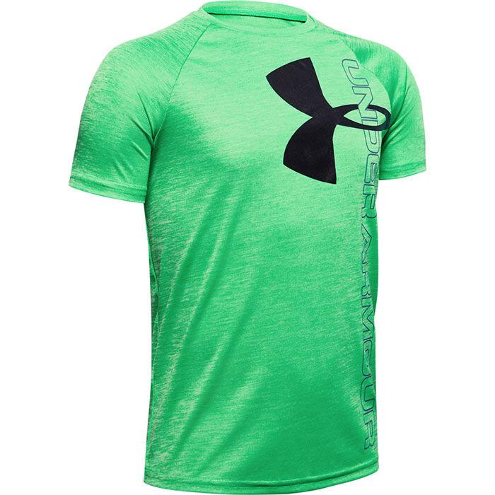 Junior Boys' [8-16] UA Tech™ Split Logo Hybrid T-Shirt