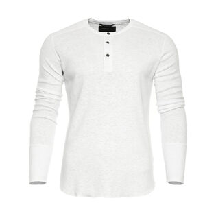 Men's Slub Henley Top