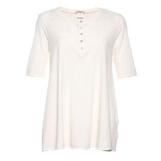 Women's Elbow Sleeve Henley Top