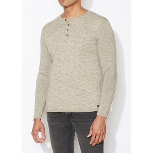 Men's Plated Henley Top