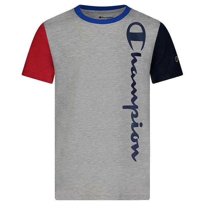 T-shirt Colourblock Vertical Script pour garçons [4-7]