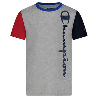 Junior Boys' [8-16] Colourblock Vertical Script T-Shirt