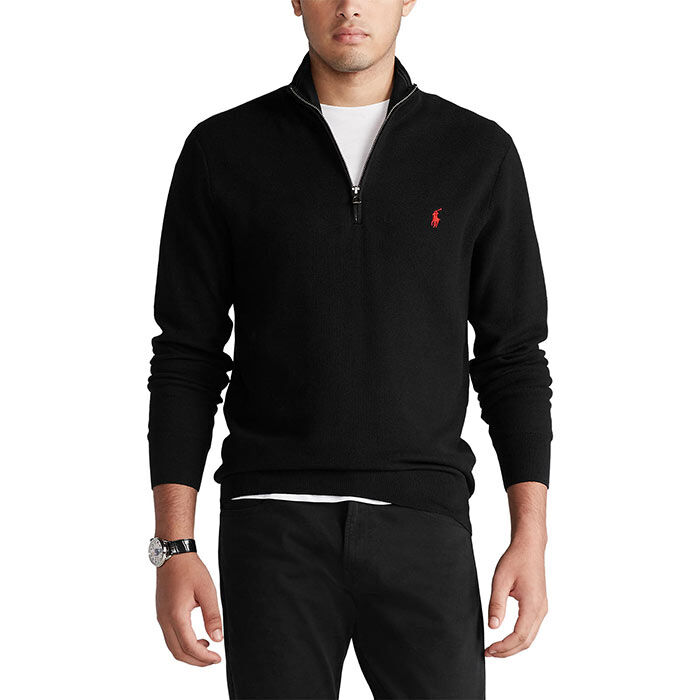 Men's Cotton Half-Zip Sweater