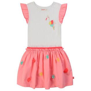 Girls' [3-6] Flamingo Dress