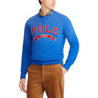 Men's Cotton-Blend Fleece Sweatshirt