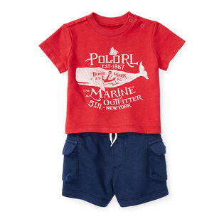 Baby Boys' [3-24M] Graphic Jersey Two-Piece Short Set