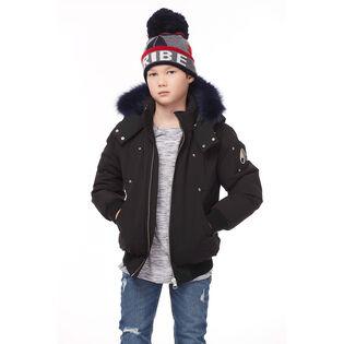 Manteau de style blouson à fourrure colorée pour garçons juniors [4-16]