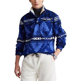Men's Mock Neck Fleece Sweater
