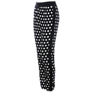 Pantalon de survêtement à pois en velours pour femmes