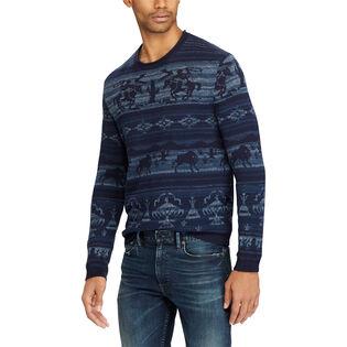 Men's Intarsia Cotton-Blend Sweater