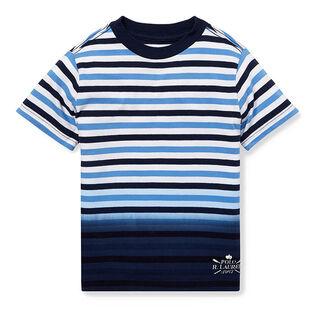 Boys' [2-4] Ombre Striped Cotton T-Shirt