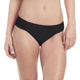 Women's Island Goddess Side Shirred Hipster Bikini Bottom