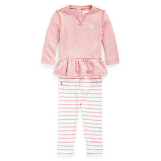 Baby Girls' [3-24M] Terry Top + Legging Two-Piece Set