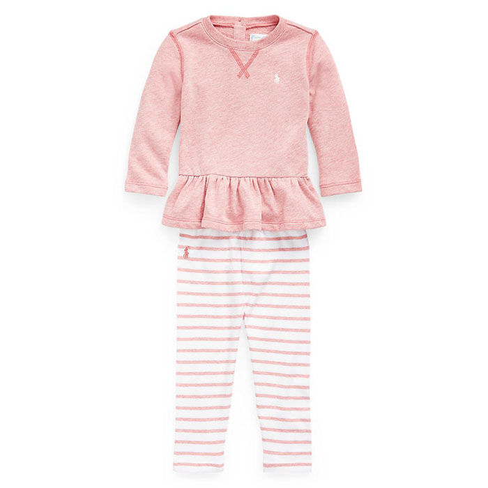 Ensemble deux pièces en tissu bouclette pour bébés filles [3-24M]
