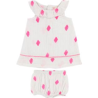 Baby Girls' [6-18M] Diamond Dress Two-Piece Set