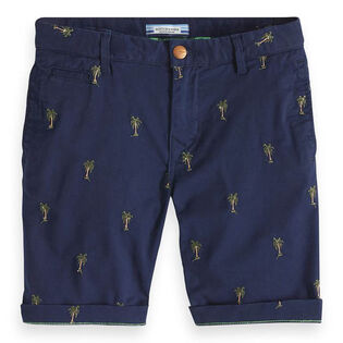 Junior Boys' [8-16] Embroidered Chino Short