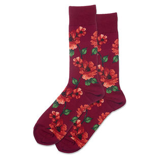 Men's Autumn Floral Crew Sock