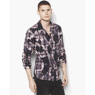 Men's Bleached Grid Plaid Shirt