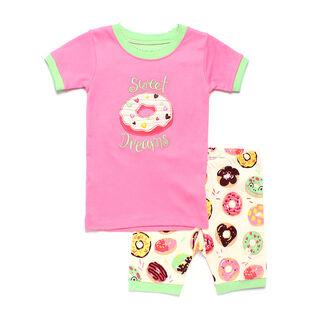 Girls' [2-8] Sweet Donuts Short Pajama Set