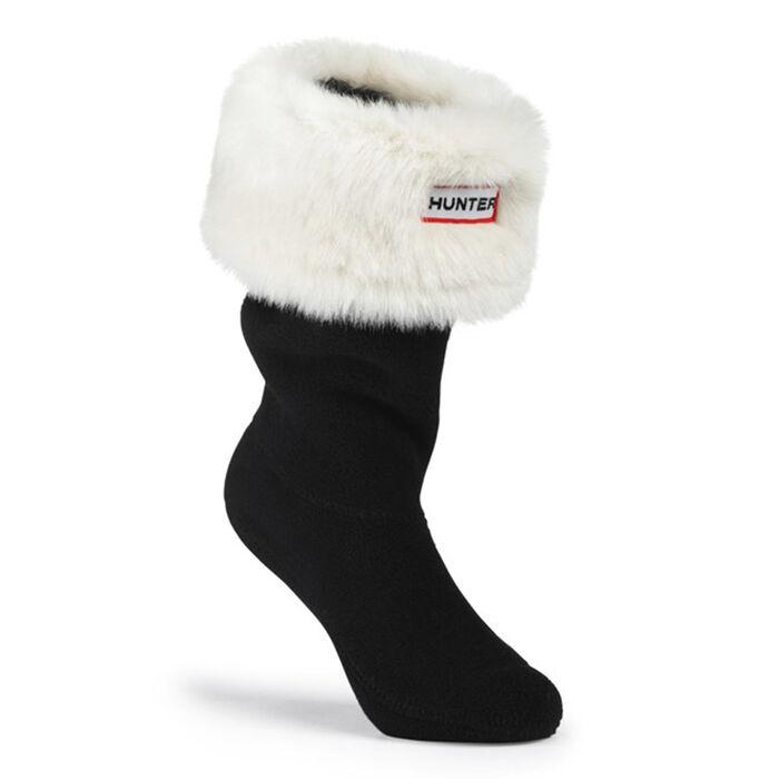 Youth Furry Cuff Welly Sock (Polar White)