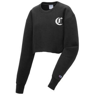 Women's Reverse Weave® Old English Cropped Crew Sweatshirt