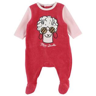 Baby Girls' [6-12M] Velvet Llama Jumpsuit