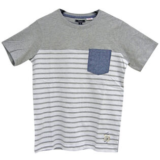 Junior Boys' [8-16] Striped Colourblock T-Shirt