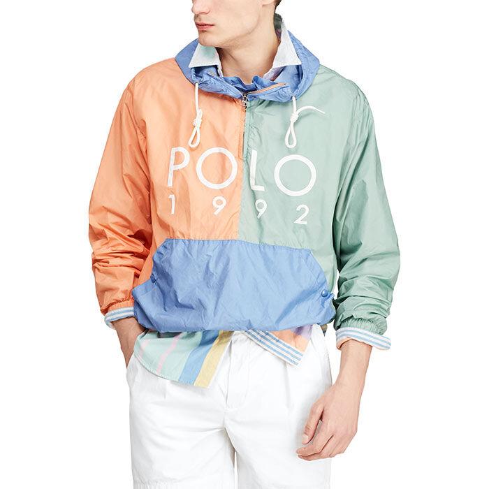 Men's Colourblocked Logo Popover Jacket