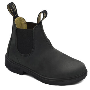 #1325 Kids' Chelsea Boot In Rustic Black