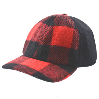 Wool-Blend Buffalo Check Cap