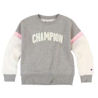 Junior Girls' [7-16] Sherpa Crew Sweatshirt