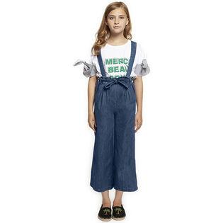 Junior Girls' [7-14] Denim Overall Pant