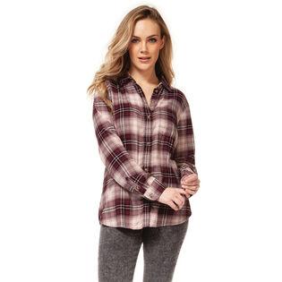 Women's Plaid Button-Down Shirt
