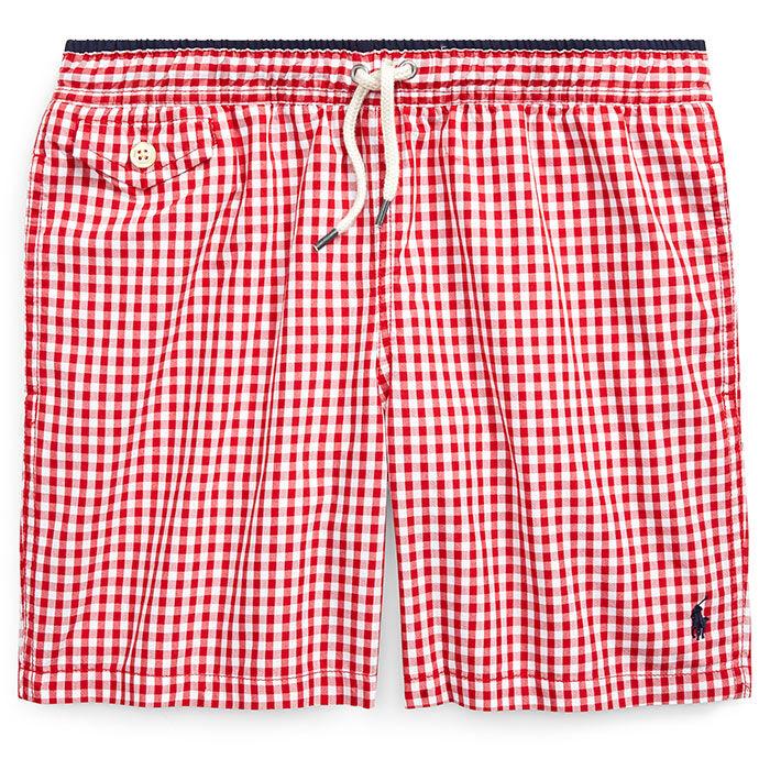 989ef9293c Junior Boys' [8-20] Traveler Gingham Swim Trunk   Ralph Lauren ...