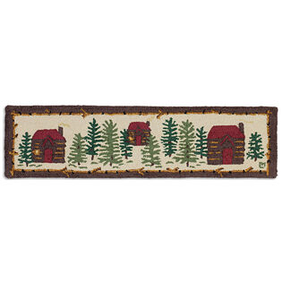 Cozy Cabins Hooked Wool Hearth Rug