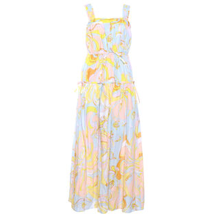 Women's Printed Tier Maxi Dress