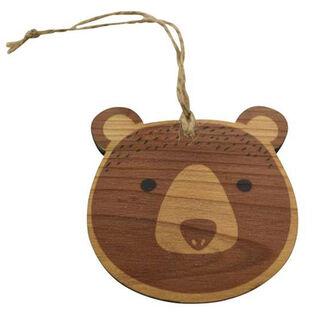 Wood Bear Ornament