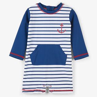 Baby Boys' [6-24M] Nautical Stripes One-Piece Rasguard