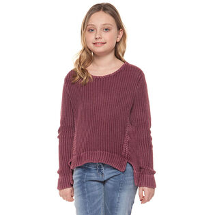 Junior Girls' [7-14] Washed Knit Sweater