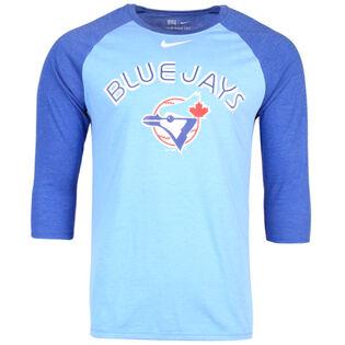 Men's Blue Jays Tri-Blend Raglan 3/4 Top