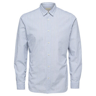 Men's Stripe Slim Long Sleeve Shirt
