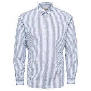 Chemise ajustée à rayures pour hommes