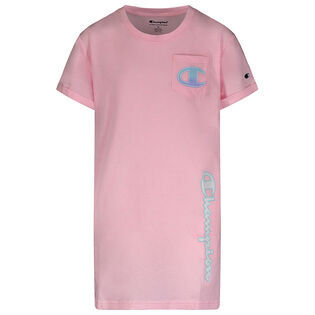 Girls' [4-6X] Ombre Logo Pocket Dress