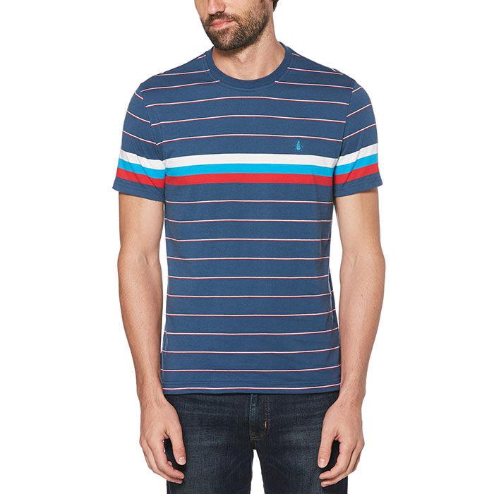 T-shirt à rayures techniques pour hommes