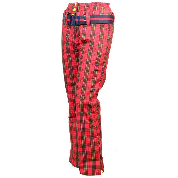 Pantalon à carreaux doublé pour femmes
