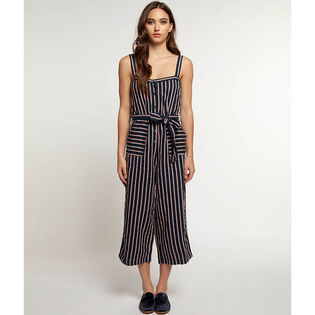 Women's Striped Linen-Blend Jumpsuit