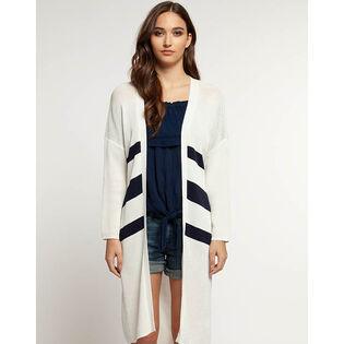 Women's Long Stripe Cardigan