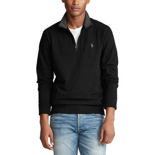 Men's Cotton Mesh Half-Zip Sweater