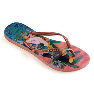 Women's Slim Tropical Flip Flop Sandal