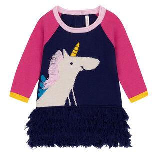 Girls' [3-6] Unicorn Sweater Dress